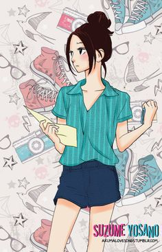 Suzume Yosano - Hirunaka No Ryuusei by ~akumaLoveSongs on deviantART This looks great, but if I did it ( for the record I don't usually give this kind of of opinion) I probably would have put food ib the background