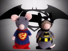Supermouse and Ratman **crochet pattern only** by KrigsCrochet on Etsy