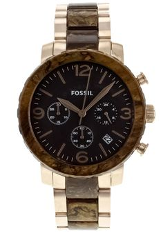 The Watchery has Womens Natalie Chronograph Brown Dial Two Tone SS Fossil Watch on sale for $129.99 only.With Free Shipping http://www.dealwaves.com/product/Womens-Natalie-Chronograph-Brown-Dial-Two-Tone-SS-Fossil-Watch-JR1385.html