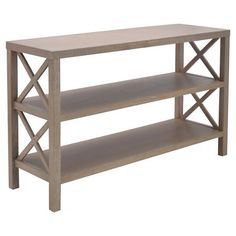 "Wings Console Table with 2 Shelves - Threshold™ : Target  29"" H x 47.25"" W x 14"" D"