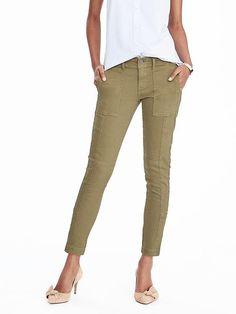 Skinny Stretch Utility Ankle Pant Pantaloni Cargo Da Donna c4dd6b7acc9d