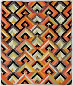 Françoise Barnes, Art Deco, 1980 Collection of the International Quilt Study Center & Museum via Historically Modern: Quilts, Textiles & Designs