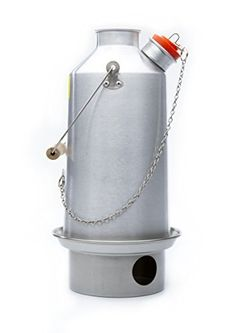 'Base Camp' Kelly Kettle® 1.6ltr (Aluminium) NOW WITH STAINLESS STEEL FIRE-BASE AS STANDARD - Camping Kettle and Camp Stove in one. Ultra fast lightweight wood fueled camp stove for solo or group use. NO Batteries, NO Gas, Fuel is FREE! For Fishing, Hunting, Scouts, Family Picnics. Weight 1.8lb / 0.8kg