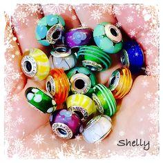 PANDORA Muranos! Pandora Beads, Pandora Bracelet Charms, Pandora Jewelry, Charm Jewelry, Fine Jewelry, Love Bracelets, Charm Bracelets, Pandora Story, Pandora Collection