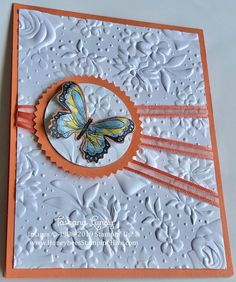 karten Honeybee's Stamping Hive: Botanischer Schmetterling & Country Floral A Healthy Diet t Pretty Cards, Cute Cards, Diy Cards, Making Greeting Cards, Greeting Cards Handmade, Butterfly Cards Handmade, Butterfly Crafts, Karten Diy, Embossed Cards