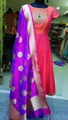 Buy Similar Lovely Brocade Dupatta… Lehenga, Anarkali Dress, Pakistani Dresses, Indian Dresses, Indian Outfits, Indian Clothes, Anarkali Suits, Salwar Kurta, Punjabi Suits