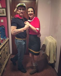 diy popeye and olive oyl costume autumn awesome ness pinterest costumes halloween. Black Bedroom Furniture Sets. Home Design Ideas