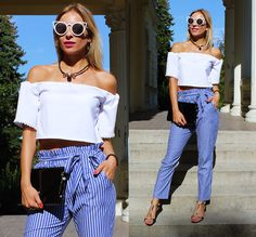 Get this look: http://lb.nu/look/8813995  More looks by Sandra Kozłowska: http://lb.nu/sandicious  Items in this look:  Shein Pants   #elegant #retro #street #sandicious #fashion #stripped #shein #pants #blogger