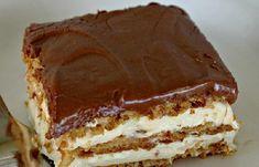 Álom szelet. Sütés nélküli krémes csoda, 15 perc alatt elkészülsz vele! - Blikk Rúzs Cookie Desserts, No Bake Desserts, Delicious Desserts, Dessert Recipes, No Bake Eclair Cake, Hungarian Cake, No Bake Pies, Sweet Tarts, Cake Ingredients