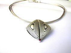 necklace shakudo mokume