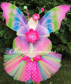 Butterfly Costume - Butterfly Tutu - Girls Halloween Costume - Butterfly Wings - Girls Butterfly Wings and Accessories