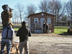 Check out this awesome #BehindTheScenes photo from tonight's ALL NEW episode of #TinyHouseHunters on HGTV at 9pm | 8c!!! #KansasCity #GoingTiny #PieTownTV by pietownprodtv