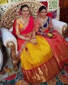 Lehnga Choli For Girls, Kids Lehenga Choli, Half Saree Lehenga, Lehnga Dress, Pattu Saree Blouse Designs, Half Saree Designs, Lehenga Designs, Kids Dress Wear, Kids Wear