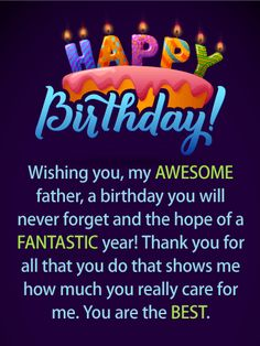135 best birthday cards for father images on pinterest in 2018 have a fantastic year happy birthday card for father wish your father a birthday m4hsunfo