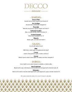 Fine Restaurant Dining Menu  Ideas    Dining Menu