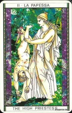 II. The High Priestess - Tarocco Mitologico by Amerigo Folchi