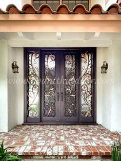 ❓❓❓ Do you want a custom iron door for security and style? Then We are here to tell you how it's done. -- ☎️☎️☎️ Call 877-205-9418 for Orders and Inquiries 💰💰💰 Ask us about our EXCEPTIONAL OFFERS 🆓🆓🆓 Take advantage of FREE CONSULTATION and FREE DESIGN ⚠️⚠️⚠️ About this Beautiful IRON DOOR: Custom Double Iron Door w/Sidelights. -- #irondoor #iwantthatdoor #wroughtirondoor #universalirondoors #ironfrontdoor #irondoorsnearme #irondoorcompany Iron Front Door, Wrought Iron Doors, Free Design, This Is Us, Furniture, Beautiful, Home Decor, Style, Swag