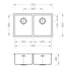 CHIUVETA DE BUCATARIE ALVEUS COLECTIA QUADRIX BLACK 220- F ,MONTAJ LA NIVELUL BLATULUI DIN INOX - Iak Floor Plans, Diagram, Floor Plan Drawing, House Floor Plans