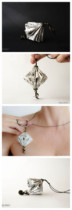 Paper Necklace, Paper Jewelry by Malena Valcárcel