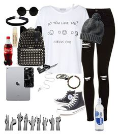 """""""💋💋💋💋"""" by sparklequeen2345 ❤ liked on Polyvore featuring Topshop, Wildfox, Valentino, Uniqlo, Converse, Casetify and Miss Selfridge"""