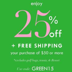 25% off starts now! Plus free shipping on orders of $50 or more! Use code GREEN15 at checkout. #GreenMonday #AFCHoliday