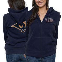 :) St. Louis Rams Ladies Game Day Full Zip Hoodie
