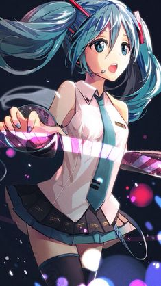 Hatsune Miku- that is the coolest keyboard things ever! I want it!