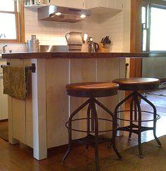 Horizontal shot of Hanks kitchen island
