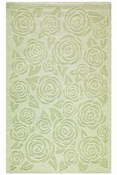 Beautiful Martha Stewart Living™ Block Print Rose Area Rug
