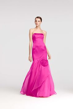 Vanity Fair Bridesmaid Dress:  Fit and flare dress with an organza rosette detail.  Dress courtesy David's Bridal Eastwood Mall.