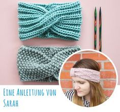Free knitting instructions: headband with twist- Kostenlose Strickanleitung: Stirnband mit Twist Free Knitting Pattern: Headband with Twist – Snaply Magazine - Knitting Blogs, Knitting For Beginners, Baby Knitting Patterns, Baby Patterns, Free Knitting, Crochet Patterns, Headband Pattern, Knitted Headband, Knitted Hats