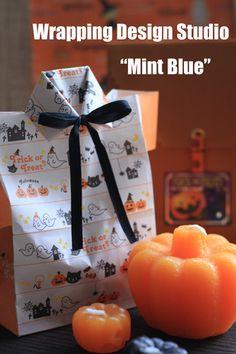 ラッピングコーディネーター keiko's Diary 東京 Diy And Crafts, Arts And Crafts, Paper Crafts, Sponge Holder, Mint Blue, Happy Halloween, Origami, Wraps, Stationery