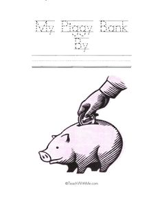 Classroom Freebies: My Piggy Bank Easy Reader Booklet