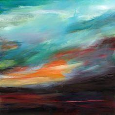 """Norddeutscher Himmel III (Northern Sky III),"" abstract painting by artist Ute Laum (Germany) | Take a peek inside her studio: http://magazine.saatchiart.com/articles/artnews/saatchi-art-news/inside-the-studio-saatchi-art-news/ute-laum"