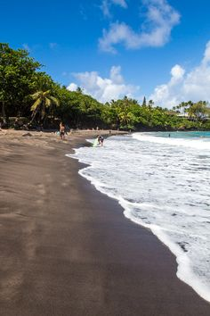 Hamoa Beach - one of the best stops along the Road to Hana drive in Maui, Hawaii