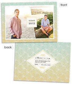 Ocean Sunset 7x5 Flat Card - Miller's Design Market - EW Couture Collection senior announcement /// photography by © Studio 12/by Sarah Lane Studios