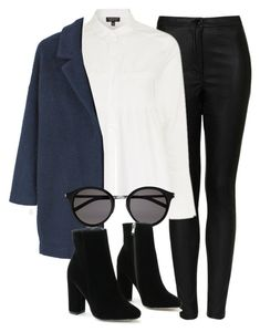 """Untitled #6459"" by laurenmboot ❤ liked on Polyvore featuring Topshop, MANGO and Yves Saint Laurent"