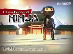 Flashcard Ninja - a fun iOS game for addition/subtraction