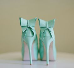 sea green and bows