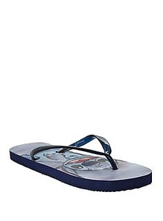 <p>Aloha! Hang out at the beach with Stitch in these flip from Disney. They're blue and have an image of Experiment 626.</p><ul><li>Man-made materials</li><li>Imported</li><li>Listed in women's sizes</li></ul>