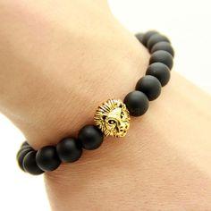 Lionhead Mens & Womens Agate Bracelet.