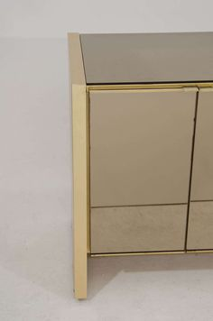 Ello Credenza In Brass And Bronze Tinted Mirror | From A Unique Collection  Of Antique And Modern Credenzas At ...