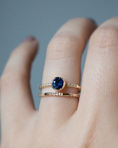 A deep blue Montana Sapphire Engagement Ring set in a rich Gold Bezel ring. Handcrafted in NYC with an Ethically sourced Montana Sapphire. Cute Jewelry, Jewelry Box, Jewelry Rings, Jewelry Accessories, Jewelry Design, Gold Jewelry, Cheap Jewelry, Jewlery, Jewelry Storage