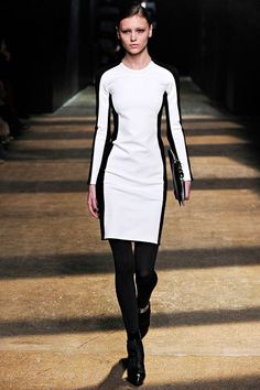 3.1 Phillip Lim Fall 2012 Runway Colorblocked Ponte Knit Dress Size 2 #31PhillipLim #Fitted