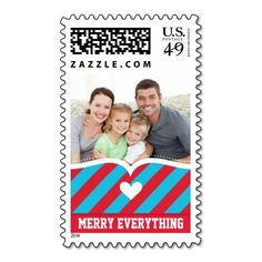 PERSONALIZED STAMPS  :: cupid's bow bright stripe $10 OFF FOR A SHEET OF POSTAGE STAMPS TODAY!!!!---- USE CODE:  ZWEEKOFDEALS