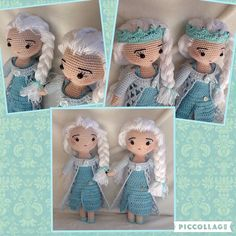Twee Elsa's uit 'Frozen', gehaakt voor twee hartsvriendinnen.