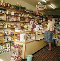 Tante Emma Laden - Vintage shop just around the corner. Tante Emma Laden, Vintage Shops, Retro Vintage, Vintage Stuff, Good Old Times, The Old Days, Vintage Pictures, Funny Pictures, Store Design