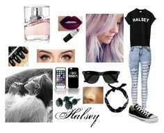 """""""halsey"""" by sbaez-2 ❤ liked on Polyvore featuring Ray-Ban, HUGO, Converse, women's clothing, women, female, woman, misses and juniors"""