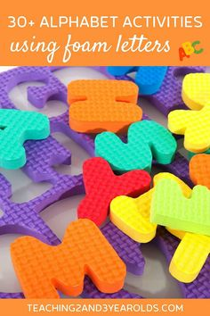 It's super easy to put together literacy activities using foam letters. Toddlers and preschoolers love to handle them, and they come in a variety of sizes, making them even more versatile! #letters #alphabet #abc #learning #skills #preschool #toddler #2yearolds #3yearolds #teaching2and3yearolds Teaching The Alphabet, Abc Learning, Learning Skills, Preschool Alphabet, Teaching Strategies, Learning Spanish, Teaching Resources, Teaching Ideas, Letter M Activities