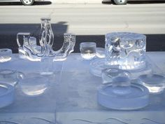More of the Mad Hatter's tea party ice sculpture